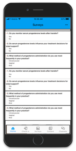 PhysicianView survey screenshot